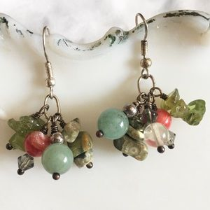 Jewelry - 925 STERLING SILVER BEADED DANGLE EARRINGS